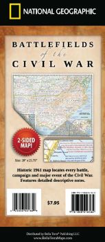 National Geographic Battlefields Of The Civil War Map Bella - Us civil war map geographic image