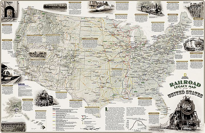 the national geographic railroad legacy map of the united states illustrates the many ways railroads have impacted the nation and shaped peoples daily