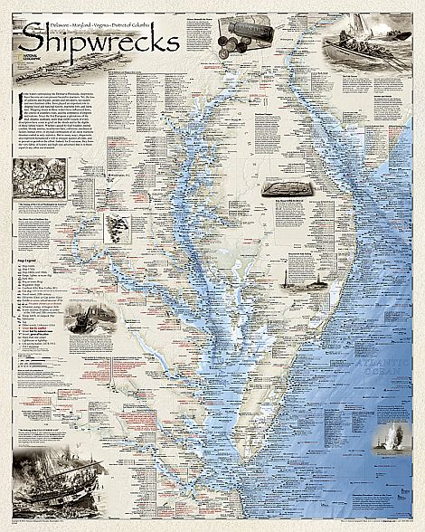 National Geographic Shipwreck Maps Bella Terra Maps