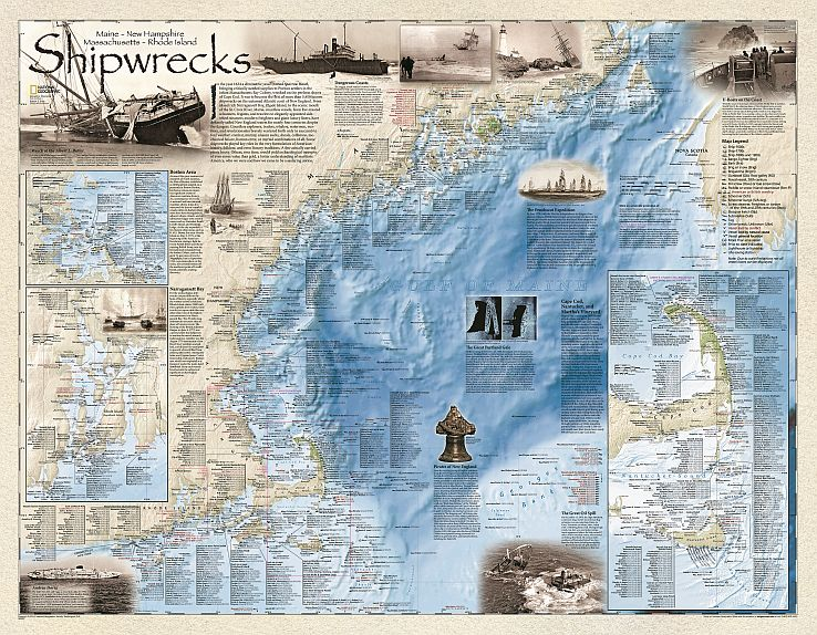 National Geographic Shipwreck Maps Bella Terra Maps